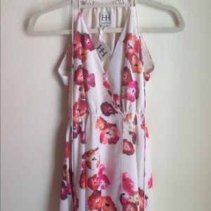 Haute Hippie Floral Print Wrap Dress XS